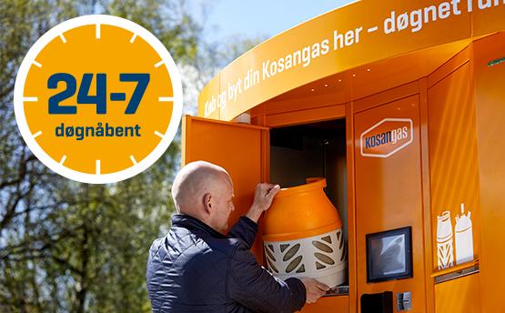 Tidsmæssigt NYHED - Gasautomater i hele landet OL-58